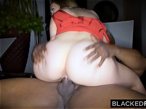 BLACKEDRAW fat hooter milky female gets dual teamed by BBCs